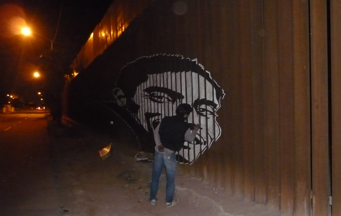 Frontera Mexico-EEUU. (Intervención rostros migrantes 2)